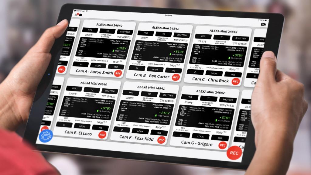 CineGizmo introduces CineControl Multicam for iPad to help film professionals control several ARRI cameras on multicam productions. Compatible with ARRI ALEXA Mini, ALEXA Mini LF and AMIRA