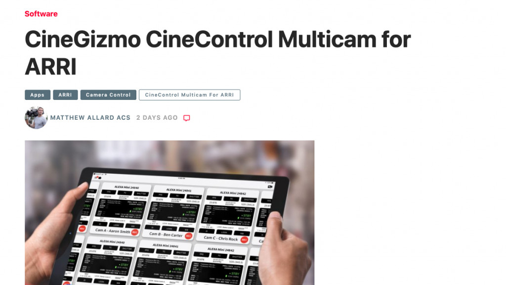 CineControl Multicam reviewed by Newsshooter.com